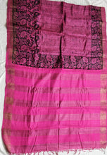 Load image into Gallery viewer, PInk tussar silk madhubani bhagalpuri saree sari Indian ethnic festive wear Chanchal women fashion Indian brand handloom