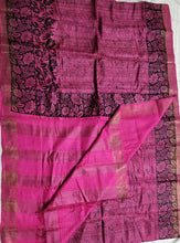 Load image into Gallery viewer, PInk tussar silk madhubani bhagalpuri saree sari Indian ethnic festive wear Chanchal women fashion Indian brand handloom Diwali gift shopping
