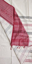 Load image into Gallery viewer, White Red Begumpuri Cotton Saree