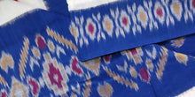 Load image into Gallery viewer, Cottonsaree Madeinindia Chanchal Bringing Art to Life Handloom Blue and Red Saree Ethnicwear Officewear