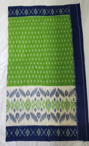 Cotton Saree Ethnicwear Madeinindia Chanchal Bringing Art to Life Handloom Blue and Green Saree