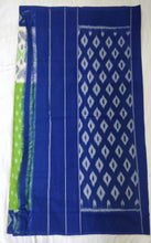Load image into Gallery viewer, Cotton Saree Ethnicwear Madeinindia Chanchal Bringing Art to Life Handloom Blue and Green Saree