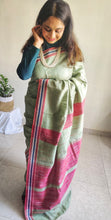 Load image into Gallery viewer, Pista green saree tussar silk saree office wear ethnic wear