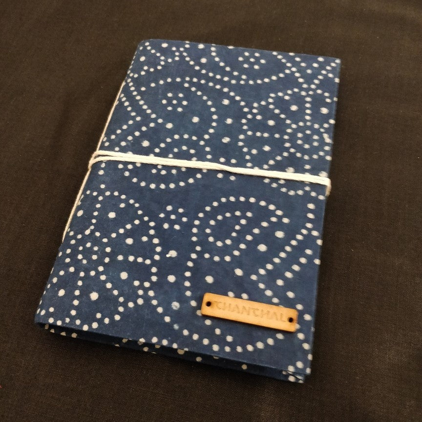Indigo Blockprint Journal Chanchal Diary Writing Chanchal Journal Diary Notebook Writer Traveller Blockprint inside Big Journal Diary Chanchal handicraft colorful journals folder cover notepad diary writing pad aesthetic classy indigo blue flower print wave print cover block print colourful folders printed diaries bandhani print cover  pretty notebooks
