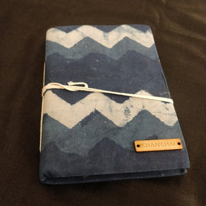 Indigo Big Waves Blockprint Journal