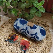 Load image into Gallery viewer, Sunglass Spectacle Specs case pouch cover Chanchal Indigo Made in India