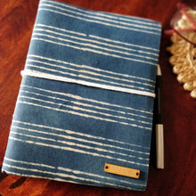 Load image into Gallery viewer, Chanchal Journal Diary Notebook Writer Traveller Blockprint inside