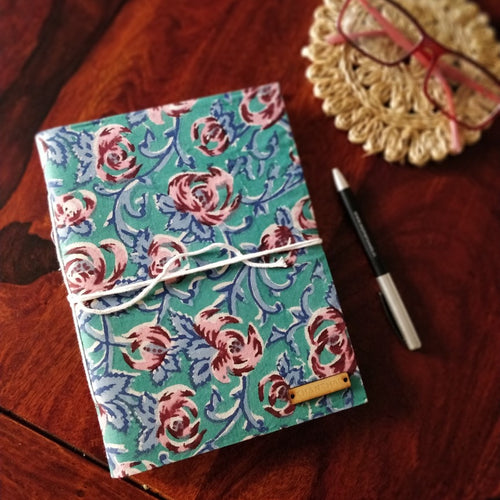 Chanchal Journal Diary Notebook Writer Traveller Blockprint inside