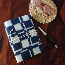 Load image into Gallery viewer, Indigo Blockprint Journal Chanchal Diary Writing