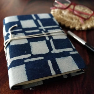Indigo Blockprint Journal Chanchal Diary Writing