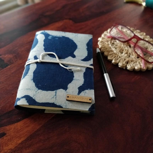 Indigo Paan Leaf Blockprint Journal Chanchal Diary Writing