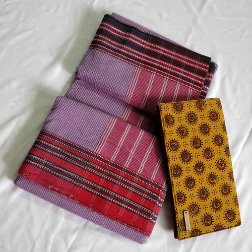 Lavender red gomi teni karnataka weave handloom cotton saree Chanchal made in India women girsl fashion ethnic wear festival spring summer collection