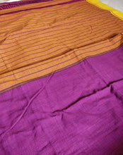 Load image into Gallery viewer, Purple Patteda Anchu Cotton Handloom Saree Purple Handwoven Karnataka Chanchal Made in India brand weave