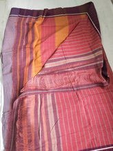 Load image into Gallery viewer, Purple Check Patteda Anchu Cotton Handloom Saree Purple Handwoven Karnataka Chanchal Made in India brand weave