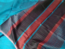Load image into Gallery viewer, Sky Blue Shades Pink Red Saree Sari tussar silk India Bhagalpuri women wear fashion Best festival gift chanchal