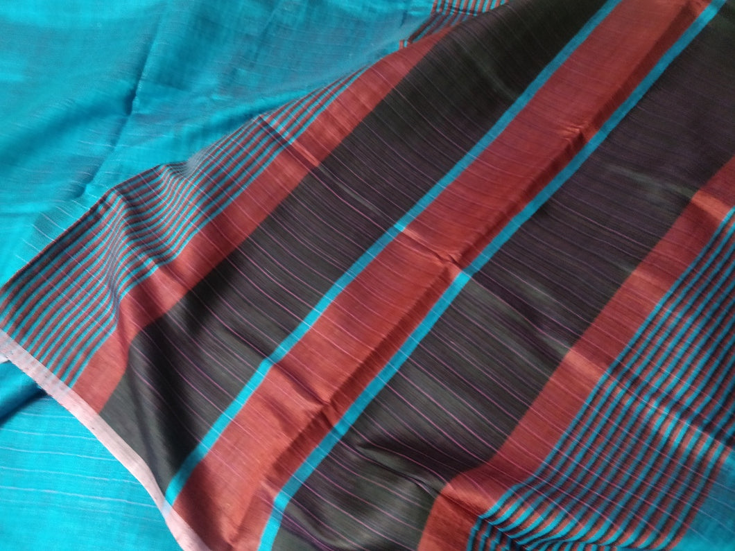 Sky Blue Shades Pink Red Saree Sari tussar silk India Bhagalpuri women wear fashion Best festival gift chanchal