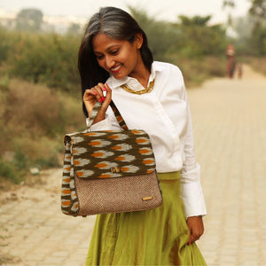 Ikat Green Handbag