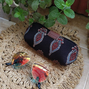 Black Sunglass Spectacle Specs case pouch cover Chanchal Indigo Made in India
