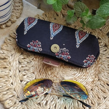 Load image into Gallery viewer, Black Sunglass Spectacle Specs case pouch cover Chanchal Indigo Made in India