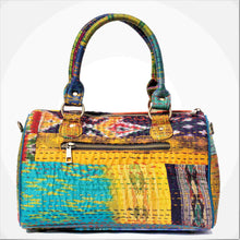 Load image into Gallery viewer, Purple Silk Duffle Bag Chanchal