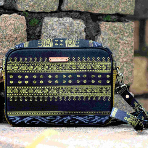Ikat Black Box Sling Bag Chanchal