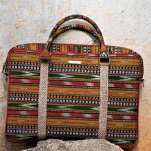 Load image into Gallery viewer, Ikat Brown Laptop Bag Chanchal