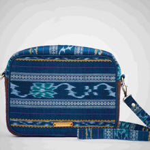 Load image into Gallery viewer, Ikat Blue Box Sling Bag Chanchal