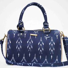 Load image into Gallery viewer, Ikat Navy blue Duffle Bag Chanchal
