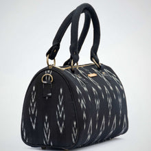 Load image into Gallery viewer, Ikat Black Duffle Bag chanchal