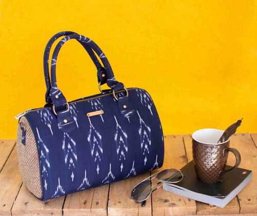 Ikat Navy blue Duffle Bag Chanchal