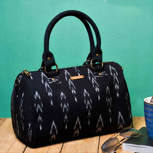 Chanchal Ikat Black Duffle bag