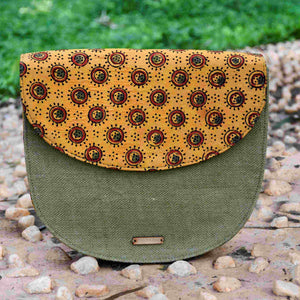 Mustard Half Moon Sling Bag Chanchal