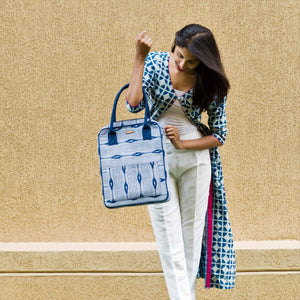 Ikat Blue Shoulder Bag
