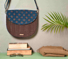 Load image into Gallery viewer, Blue Half Moon Sling Bag Chanchal