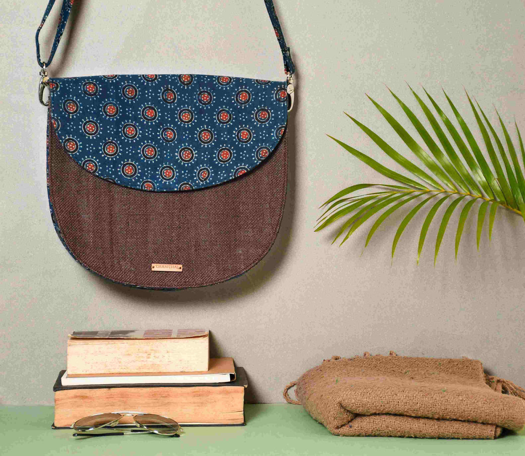 Blue Half Moon Sling Bag Chanchal