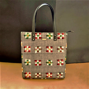 Ikat bag Tote chanchal vegan Leather fashion purses