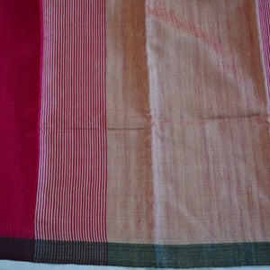 Fuschia pink saree tussar silk saree office wear ethnic wear
