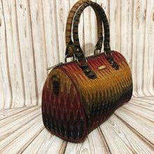 Load image into Gallery viewer, Ikat Red Multicolor Duffle Bag