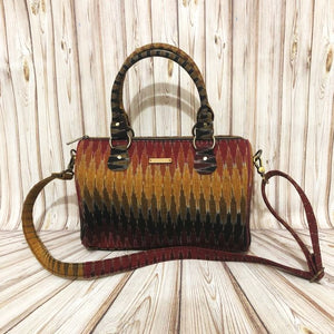 Ikat Red Multicolor Duffle Bag