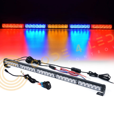 Chase Light Bar 31 inch LED (red/blue/yellow/blue/red)