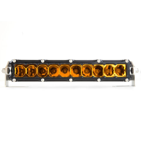 Heretic Studio : 6-SERIES BILLET LED LIGHT BAR - 10 INCH AMBER LENS