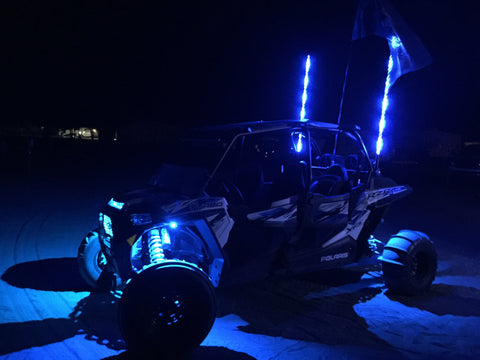MB WHIPS : LED ROCK LIGHT KIT (RGB COLOR CHANGING)
