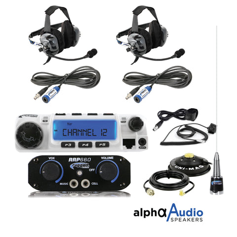 Rugged Radio : RRP660 2-Person System with 60-Watt Radio and BTU Headsets