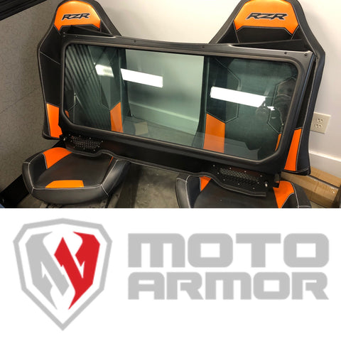 MOTO ARMOR : GLASS WINDSHIELD FOR VENT RACING ROLL CAGE