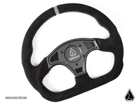 ASSAULT INDUSTRIES : **NEW** BALLISTIC SUEDE STEERING WHEEL