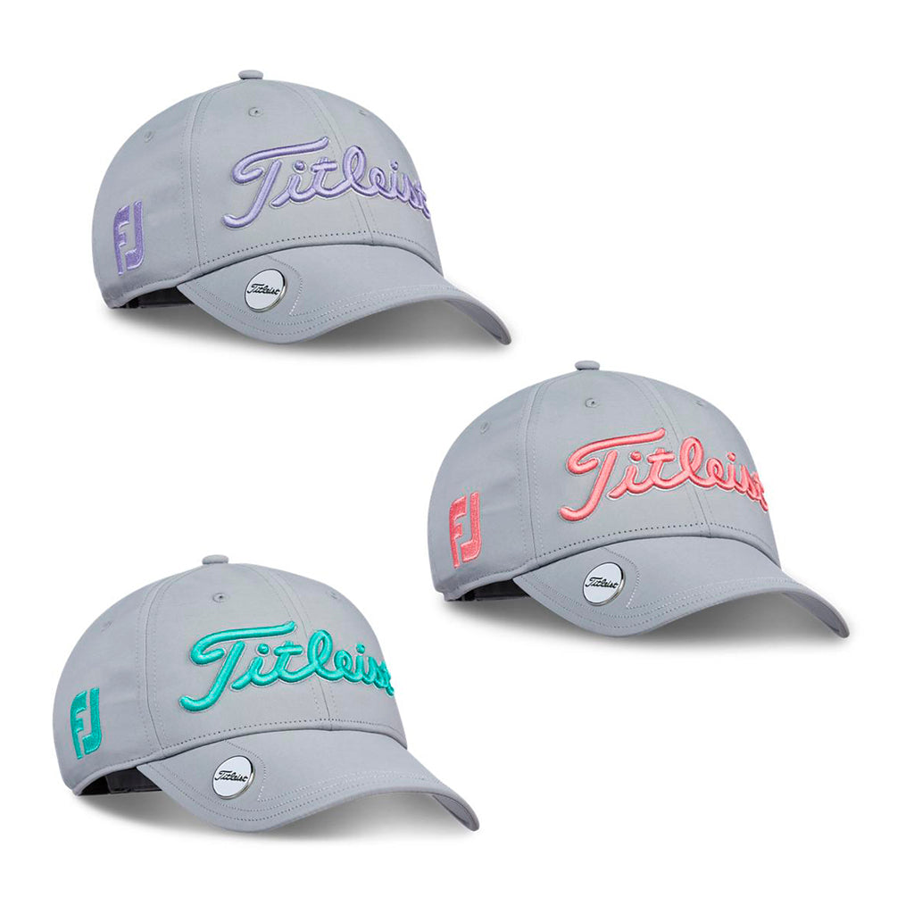 Gorra Titleist Caja Womens Tour Performance Ballmarker Grey, 6 Piezas