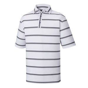 Polo Footjoy Prodry Performance Lisle Ope Stripe   Self Collar