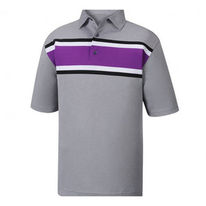 Polo Footjoy Prodry Performance Pique Multi Color Chest Stripe   Self Collar
