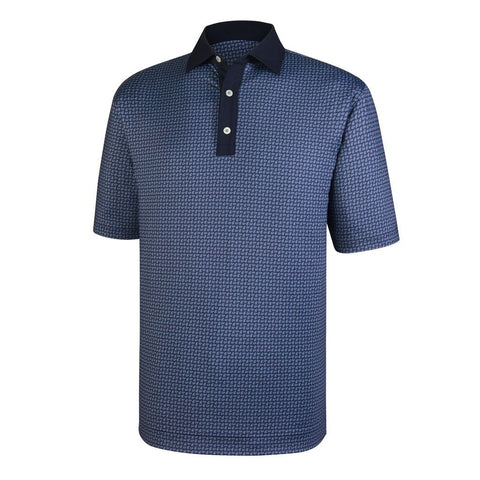 Polo Footjoy Lisle Paisley Print   Self Collar
