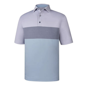 Polo Footjoy Engineered End On End Stripe Lisle   Self Collar